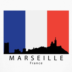 Marseille France Skyline French Flag - Kids' Long Sleeve T-Shirt
