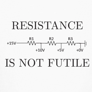 Resistance is not Futile - Kids' Long Sleeve T-Shirt