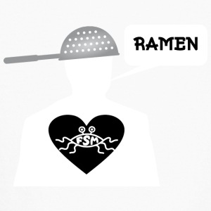 Ramen Pastafarian in heart white - Kids' Long Sleeve T-Shirt
