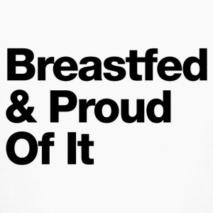 Breastfed And Proud Of It - Uppercase Design (Blk) - Kids' Long Sleeve T-Shirt
