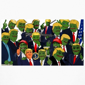 Trump Pepe Collage - Kids' Long Sleeve T-Shirt