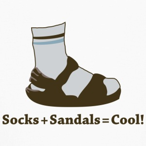 Socks and Sandals (Light) - Kids' Long Sleeve T-Shirt