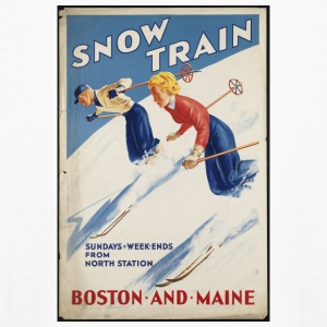 Snow Train Boston and Maine - Kids' Long Sleeve T-Shirt