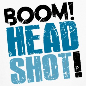 Boom Headshot! Blue - Kids' Long Sleeve T-Shirt