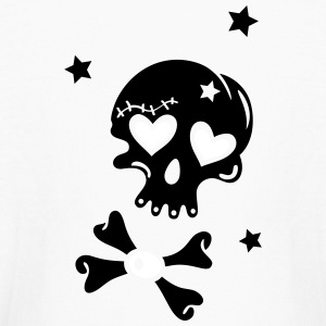 Skull with hearts and stars - Kids' Long Sleeve T-Shirt