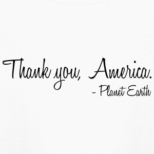 Thank you, America. - Kids' Long Sleeve T-Shirt