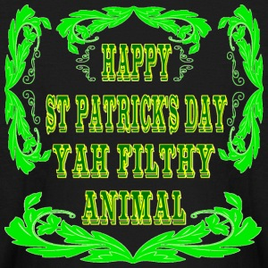 Happy St Patrick's Day Yah Animal - Kids' Long Sleeve T-Shirt