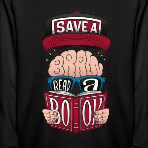 Save a Brain, Read a Book! - Kids' Long Sleeve T-Shirt