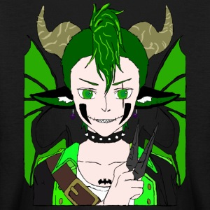 Anarchy punk demon by summer richey - Kids' Long Sleeve T-Shirt