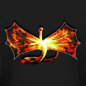 Flaming winged Serpent - Kids' Long Sleeve T-Shirt