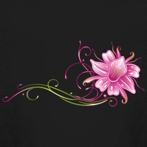 Colorful orchid with filigree ornament - Kids' Long Sleeve T-Shirt