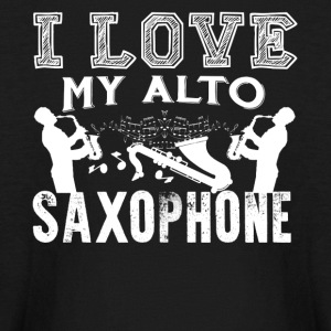I Love My Alto Saxophone Shirt - Kids' Long Sleeve T-Shirt