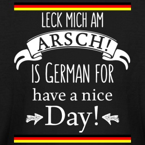 Funny German Translations Leck mich am Arsch! - Kids' Long Sleeve T-Shirt