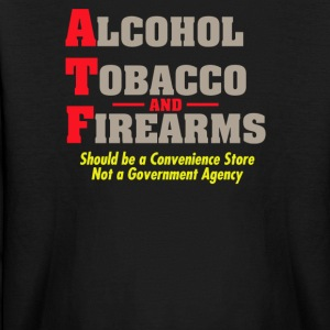 Alcohol tobacco and firearms - Kids' Long Sleeve T-Shirt