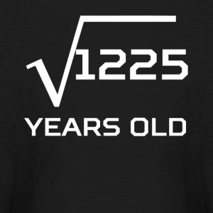 Square Root 1225 Funny 35 Years Old 35th Birthday - Kids' Long Sleeve T-Shirt