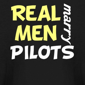 Real Men Marry Pilots Funny Pilot Humor - Kids' Long Sleeve T-Shirt