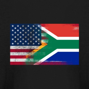 South African American Half South Africa Half Flag - Kids' Long Sleeve T-Shirt