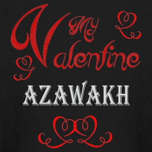 A romantic Valentine with my Azawakh - Kids' Long Sleeve T-Shirt