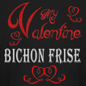 A romantic Valentine with my Bichon Frise - Kids' Long Sleeve T-Shirt