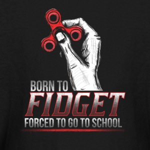 Born to Fidget Forced to School - Kids' Long Sleeve T-Shirt