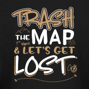 Trash the map and lets get lost - Kids' Long Sleeve T-Shirt