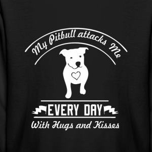 Pitbull attacks me - Kids' Long Sleeve T-Shirt