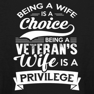 Being A Veteran's Wife Is A Privilege Tshirt - Kids' Long Sleeve T-Shirt
