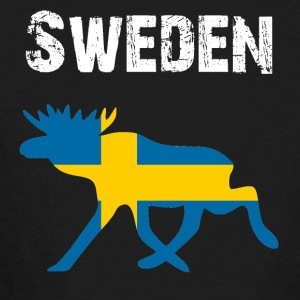 Nation-Design Sweden Moose - Kids' Long Sleeve T-Shirt