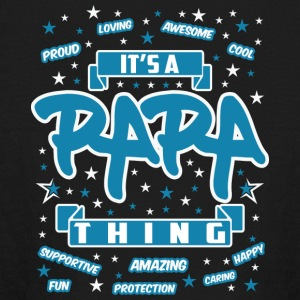 papa Thing Awesome - Kids' Long Sleeve T-Shirt