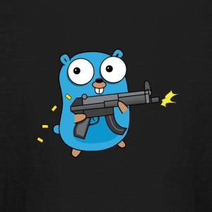 Golang with Gun - Kids' Long Sleeve T-Shirt