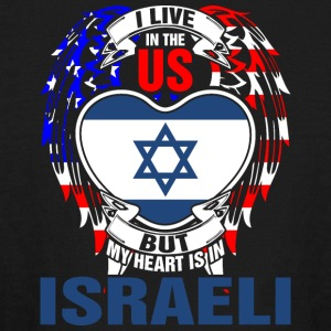 I Live In The Us But My Heart Is In Israeli - Kids' Long Sleeve T-Shirt