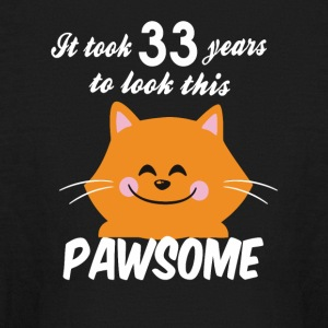 It took 33 years to look this pawsome - Kids' Long Sleeve T-Shirt