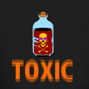 SKULL TOXIC POISION BOTTLE BLUE RED ORANGE - Kids' Long Sleeve T-Shirt