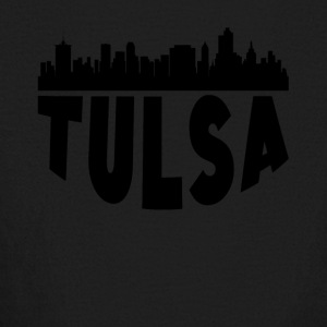 Tulsa OK Cityscape Skyline - Kids' Long Sleeve T-Shirt