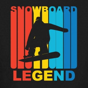 Vintage Snowboard Legend Graphic - Kids' Long Sleeve T-Shirt