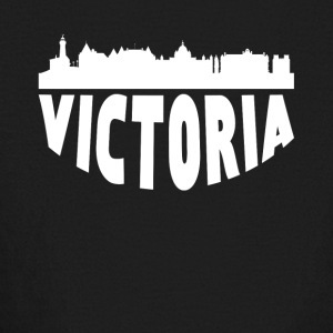 Victoria Canada Cityscape Skyline - Kids' Long Sleeve T-Shirt