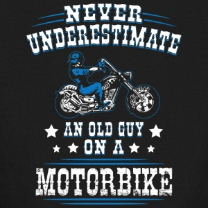Never Underestimate an Old Guy on a Motorbike - Kids' Long Sleeve T-Shirt