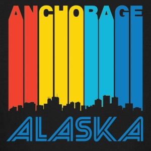 Retro Anchorage Skyline - Kids' Long Sleeve T-Shirt