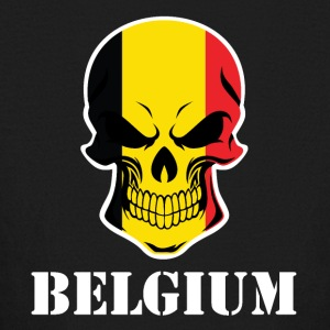 Belgian Flag Skull Belgium - Kids' Long Sleeve T-Shirt