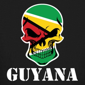 Guyanese Flag Skull Guyana - Kids' Long Sleeve T-Shirt