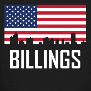 Billings Montana Skyline American Flag - Kids' Long Sleeve T-Shirt