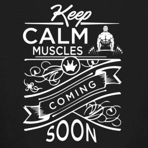 Muscles Coming Soon - Kids' Long Sleeve T-Shirt