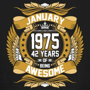 Anuary 1975 42 Years Of Being Awesome - Kids' Long Sleeve T-Shirt