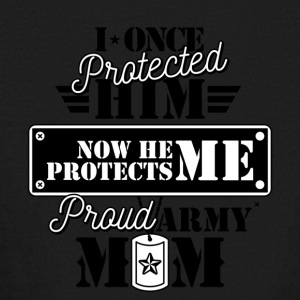 I Once Protected Him Now He Protects Me Proud Army - Kids' Long Sleeve T-Shirt