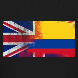 British Colombian Half Colombia Half UK Flag - Kids' Long Sleeve T-Shirt