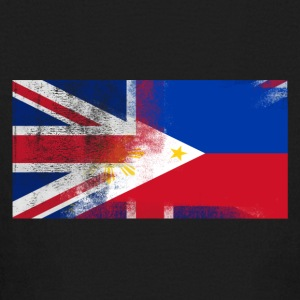 British Filipino Half Philippines Half UK Flag - Kids' Long Sleeve T-Shirt