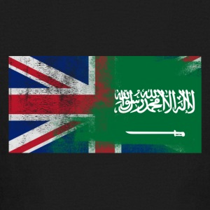 British Saudi Half Saudi Arabia Half UK Flag - Kids' Long Sleeve T-Shirt