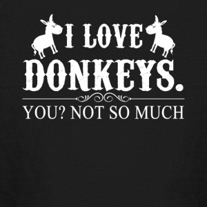 I Love Donkeys Tee Shirt - Kids' Long Sleeve T-Shirt