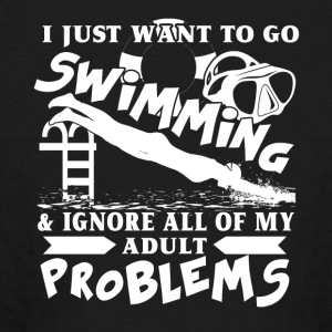 I Just Want To Go Swimming Shirt - Kids' Long Sleeve T-Shirt