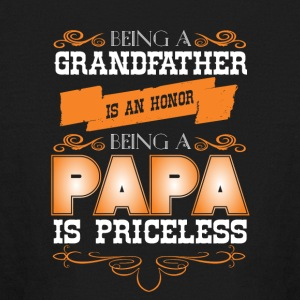 Being A Grandfather Is An Honor Papa T Shirt - Kids' Long Sleeve T-Shirt